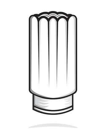 chapeau chef: toque Illustration
