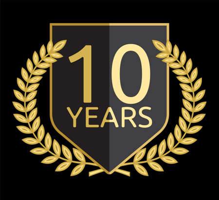 10 years: laurel wreath 10 years