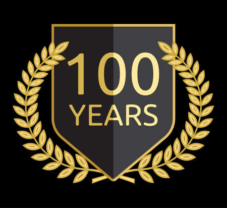 laurel wreath 100 years Vector