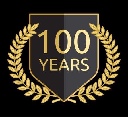 laurel wreath 100 years Stock Vector - 18440071