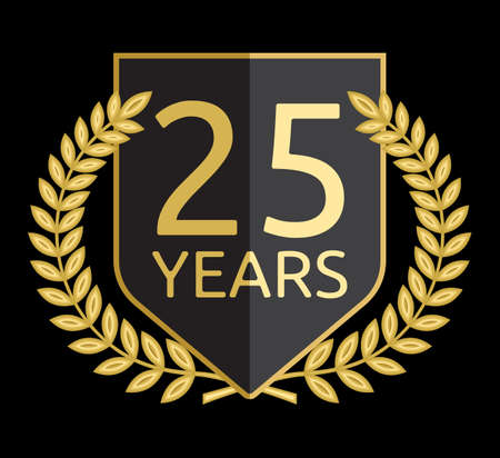 laurel wreath 25 years Vector