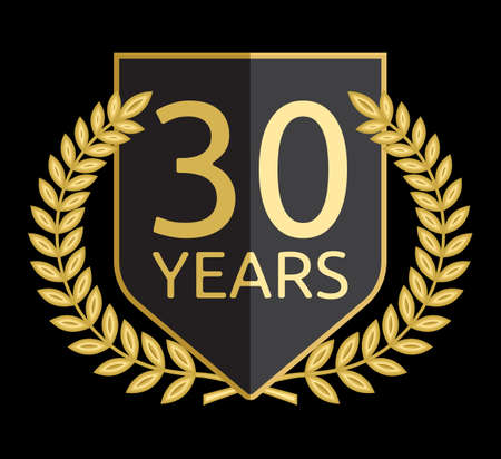 laurel wreath 30 years Vector