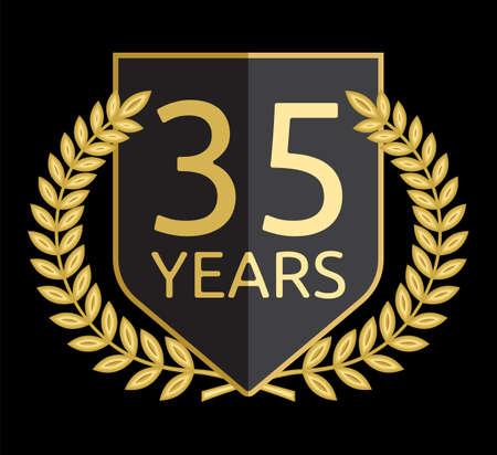 35: laurel wreath 35 years