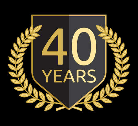 40: laurel wreath 40 years