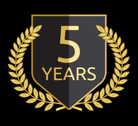 five years old: laurel wreath 5 years Illustration