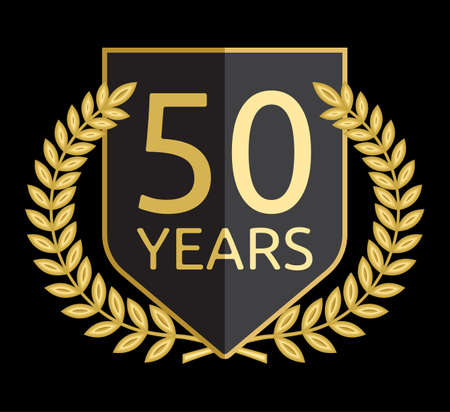 laurel wreath 50 years Vector