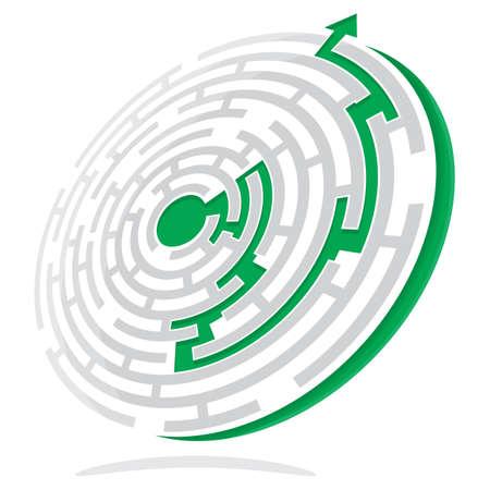 smart goals: Maze Solution Illustration