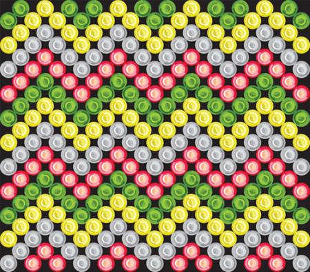 LED aboriginal pattern Stock Vector - 18419455