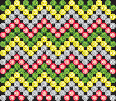 australasian: LED aboriginal pattern Illustration
