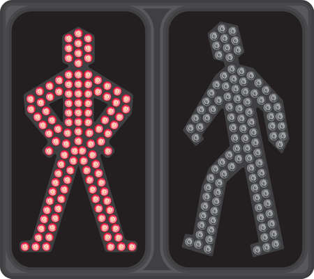 paso de peatones: Paso de peatones LED de señal