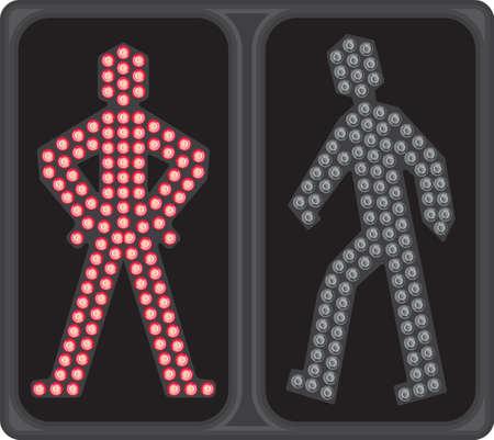 passage clout�: Signal de passage pour pi�tons LED Illustration