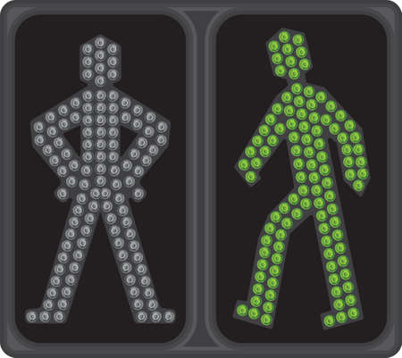 LED crosswalk signal Stock Vector - 18419457