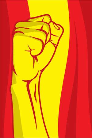 Spain fist Stock Vector - 18419449