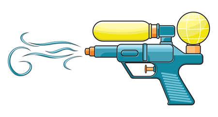 reservoir: water gun Illustration