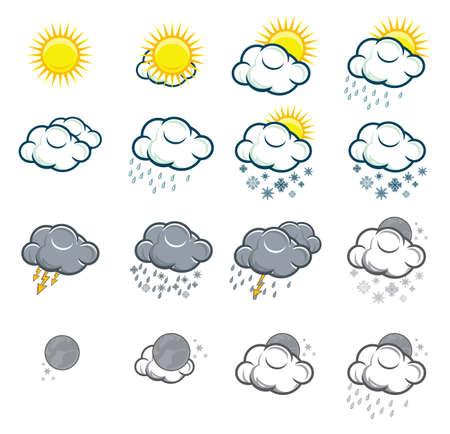 windsock: Set of weather icons