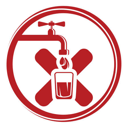 save button: Water tap icons Illustration
