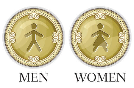 Man and women wc sign Stock Vector - 18442084