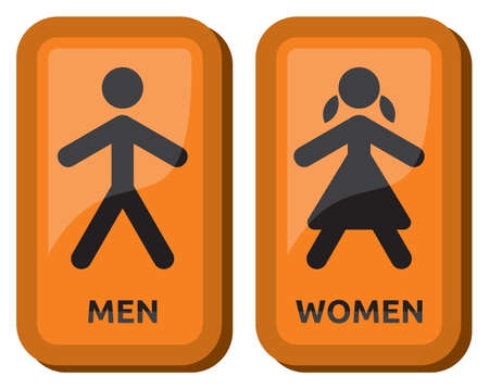 public restroom: Man and women wc sign Illustration