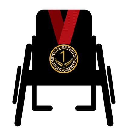Wheelchair sport medal Vector