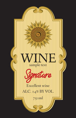 bottle of wine: wine label design