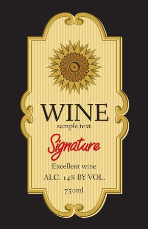 gold label: wine label design