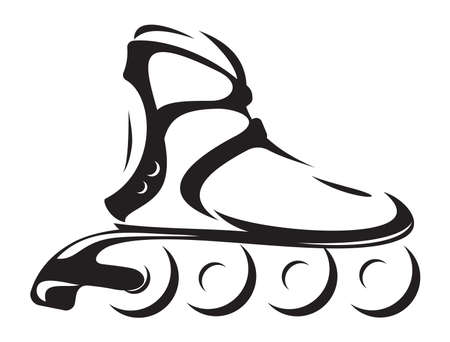inline: roller skate Illustration