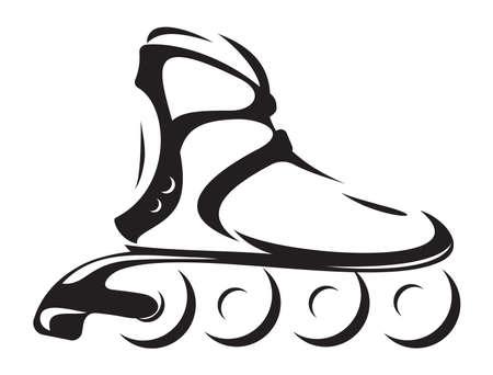 roller skates: roller skate Illustration