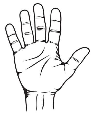 Stop Hand Stock Vector - 18689210