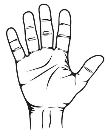 slowdown: Stop Hand Illustration