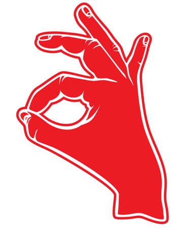 Human okay hand sign Vector