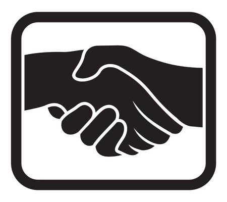 pacto: handshake icono Vectores