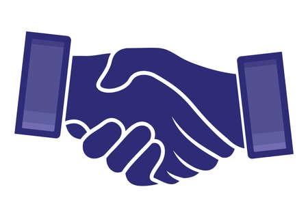 casual business team: handshake icon