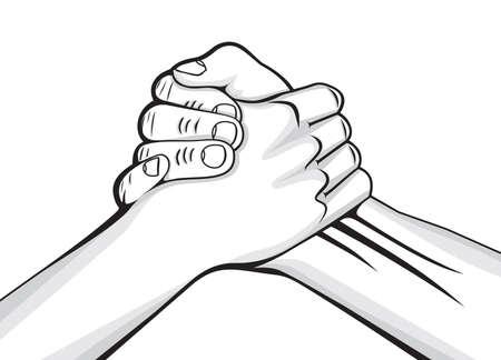 pacto: apretón de manos dos manos masculinas