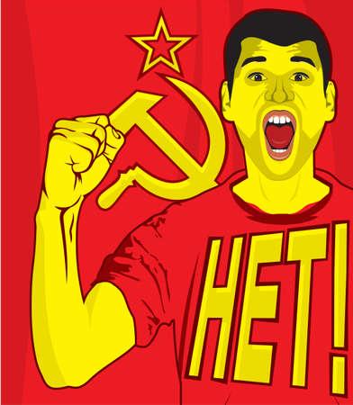 ussr soviet poster Vector