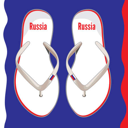 Russia flip flop sandals Stock Vector - 18689209