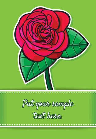 Rose greeting card template design Stock Vector - 18689196