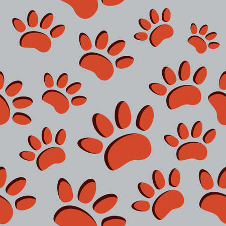 Animal footprint seamless pattern Stock Vector - 18452586