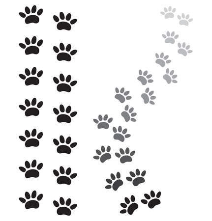 paw paw: animal paw prints Illustration