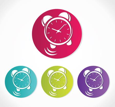 clock icon set Stock Vector - 18689114