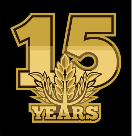 laurel wreath 15 years Vector