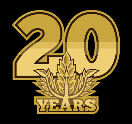 laurel wreath 20 years Vector