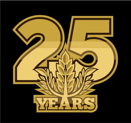 laurel wreath 25 years Vector