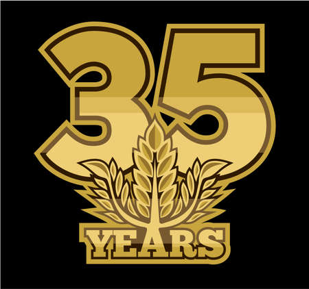 35 years: laurel wreath 35 years