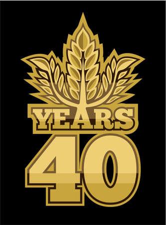40 years: laurel wreath 40 years