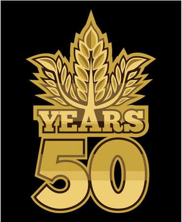 50 years: laurel wreath 50 years Illustration