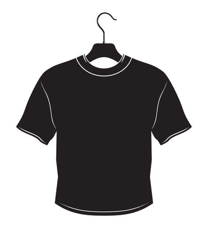 clothes hanger: Blank t-shirt on hanger