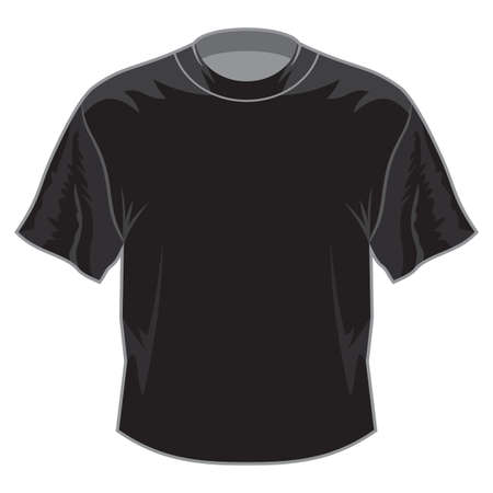 Black retro basic T-shirt Stock Vector - 18502256