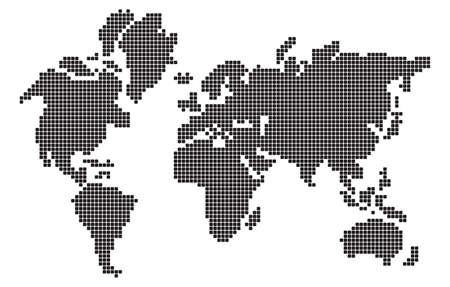 continental: Pixel design world map