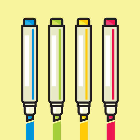 Color Markers Stock Vector - 18502204