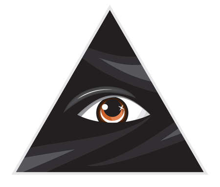 ojo de horus: Pir�mide de ojos